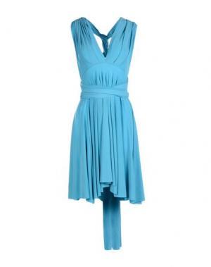 Короткое платье VON VONNI. Цвет: лазурный