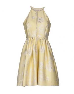 Короткое платье DICE KAYEK. Цвет: желтый