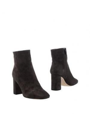Полусапоги и высокие ботинки EMANUÉLLE VEE. Цвет: темно-коричневый
