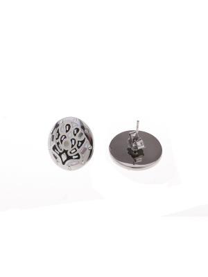 Серьги Fiore Lune. Цвет: серый, белый, черный