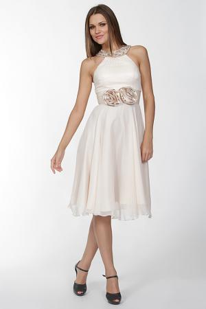 Платье Aeelis. Цвет: бежевый