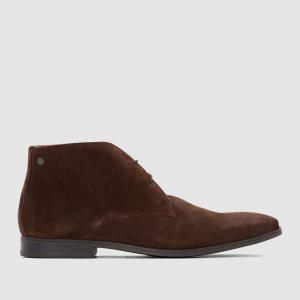 Ботинки замшевые, HENRY BASE LONDON. Цвет: каштановый