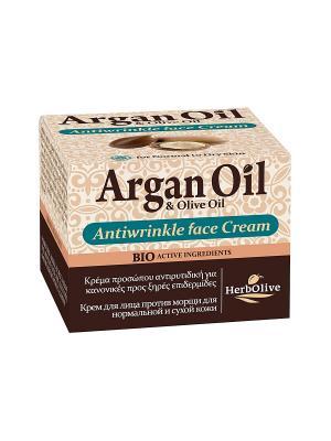 Арганойл крем для лица против морщин нормальной и сухой кожи, 50мл Madis S.A.. Цвет: светло-коричневый