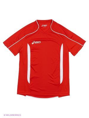 Футболка T-SHIRT VOLO JR ASICS. Цвет: красный