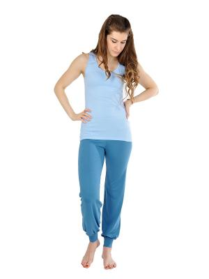 Штаны женские Классика yogadress. Цвет: синий