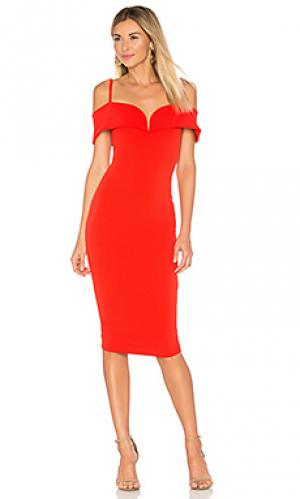 Платье миди pretty woman Nookie. Цвет: красный