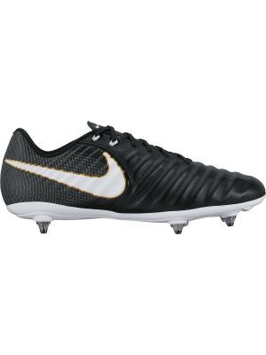 Бутсы TIEMPO LIGERA IV SG Nike. Цвет: черный, белый