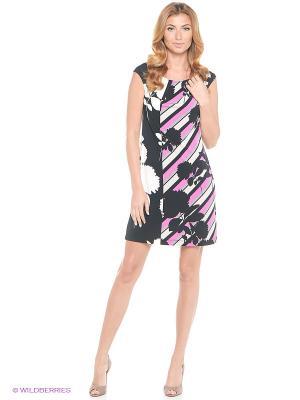 Платье London Times. Цвет: розовый
