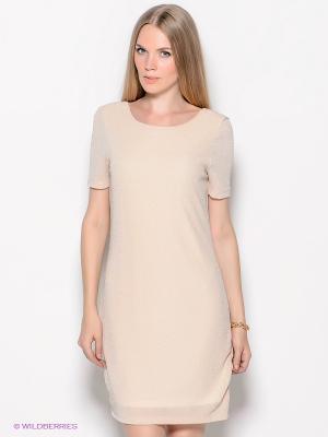 Платье Vero moda. Цвет: светло-бежевый, серебристый