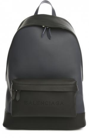 Рюкзак Balenciaga. Цвет: синий