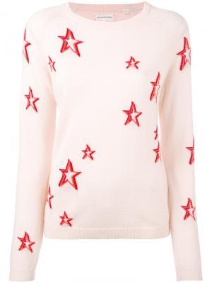 Cashmere star sweater Chinti And Parker. Цвет: розовый и фиолетовый