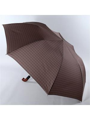 Зонт Trust. Цвет: серо-коричневый, коричневый, светло-коричневый