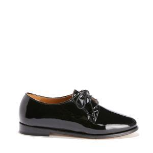 Ботинки-дерби на шнуровке из лакированной кожи BOBBIES. Цвет: черный