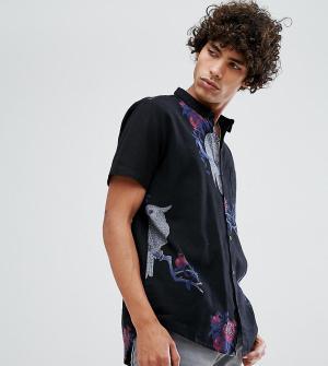 Rollas Черная рубашка с короткими рукавами Bon. Цвет: черный