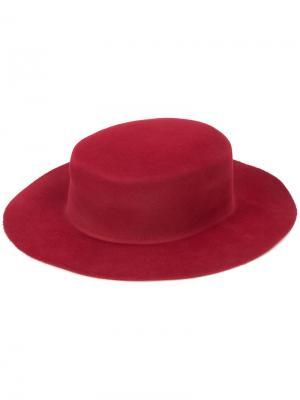 Фетровая шляпа Ryan Roche. Цвет: красный