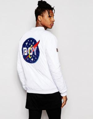 BOY London Куртка-пилот Space. Цвет: белый