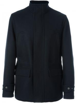 Пальто с накладными карманами Canali. Цвет: синий