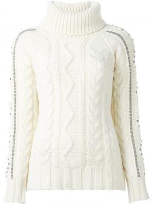 Вязаный свитер Giada Benincasa. Цвет: телесный