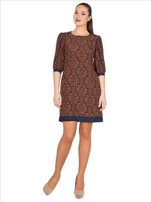 Платье PROFITO AVANTAGE. Цвет: коричневый, синий