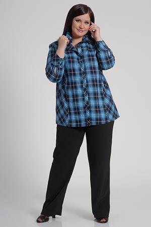 Блуза Shalle. Цвет: голубой