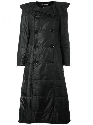 Стеганое пальто Junya Watanabe Comme Des Garçons Vintage. Цвет: чёрный