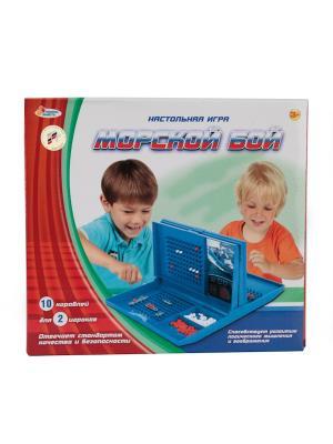 Игра настольная Играем вместе Морской бой.. Цвет: синий, красный