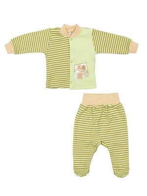 Комплект одежды: кофточка, ползунки Коллекция Лёва КОТМАРКОТ. Цвет: светло-зеленый