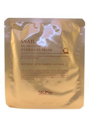 Гидрогелевая маска для лица с экстрактом улитки, 25г SKIN79. Цвет: золотистый