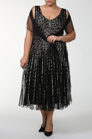 Платье Lia Mara. Цвет: серый