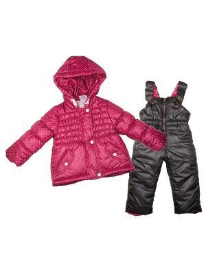 Зимний комплект babyAngel. Цвет: малиновый, темно-серый