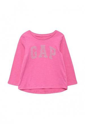 Лонгслив Gap. Цвет: розовый