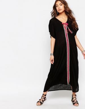 Pitusa Туника в марокканском стиле. Цвет: черный