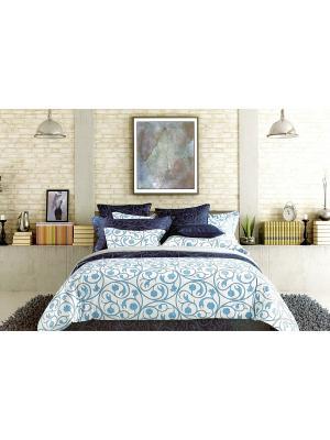 Комплект постельного белья, Семейный Sofi de Marko. Цвет: синий, белый