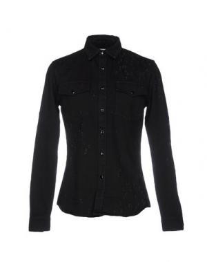 Джинсовая рубашка GIVENCHY. Цвет: черный
