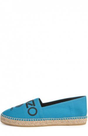 Текстильные эспадрильи Paris с аппликацией Kenzo. Цвет: голубой