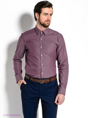 Рубашка MONDIGO. Цвет: бордовый