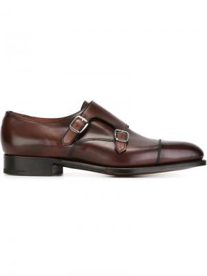 Westminster monk shoes Edward Green. Цвет: красный