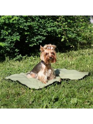 Охлаждающий коврик для собак р-р 75*100 см OSSO-fashion. Цвет: зеленый
