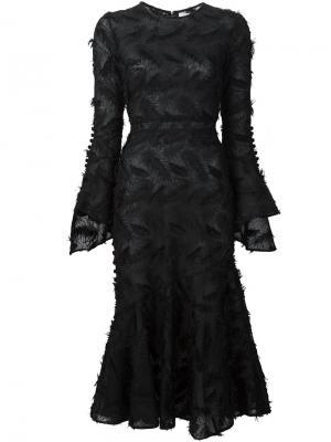 Фактурное платье Prabal Gurung. Цвет: чёрный