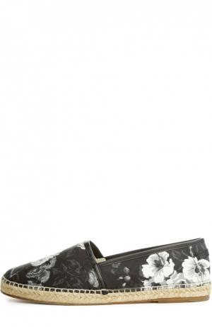 Эспадрильи Dolce & Gabbana. Цвет: черно-белый