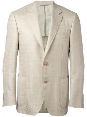 Пиджак с накладными карманами Canali. Цвет: телесный