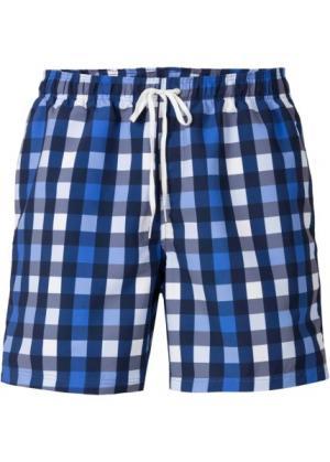 Мужские купальные шорты (синий в клетку) bonprix. Цвет: синий в клетку