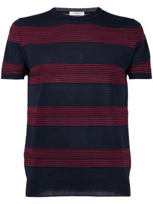 Полосатый свитер Paolo Pecora. Цвет: синий
