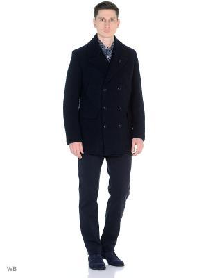 Пальто Trussardi. Цвет: темно-синий