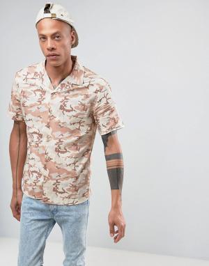Systvm Камуфляжная рубашка с лацканами на воротнике. Цвет: бежевый