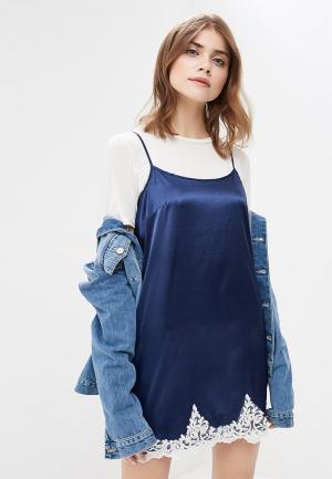 Платье Devore. Цвет: синий
