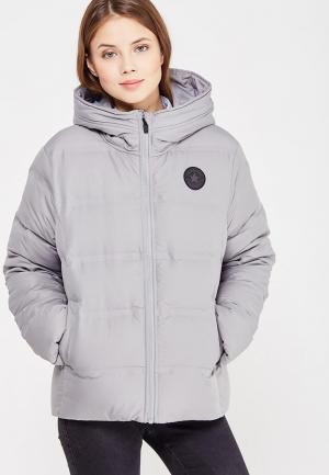 Куртка утепленная Converse. Цвет: серый