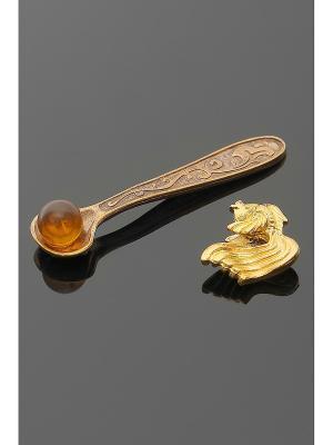 Оберег для кошелька (Рыбка золотая, ложка-супер-загребушка) Migura. Цвет: золотистый