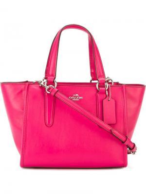 Мини сумка через плечо  Crosby Coach. Цвет: розовый и фиолетовый