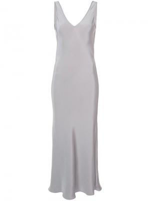 Длинное платье шифт Voz. Цвет: серый